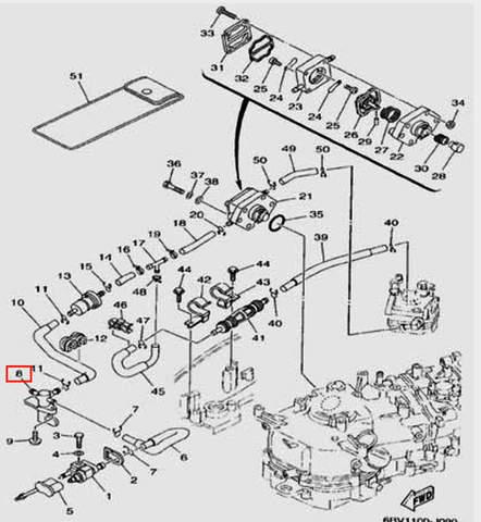 Кран топливный  для лодочного мотора F5 Sea-PRO(9-8)