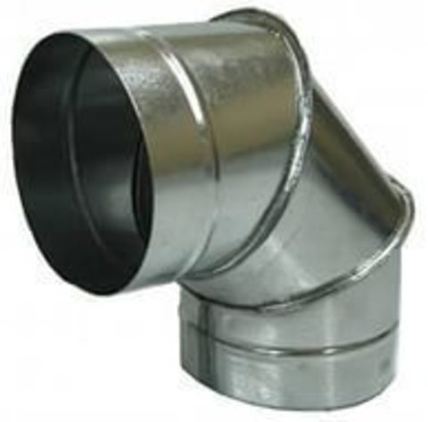 Отвод (угол) 90 градусов D  80 оцинкованная сталь