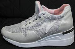 Летние спортивные туфли Topas 4C-8045 Silver.