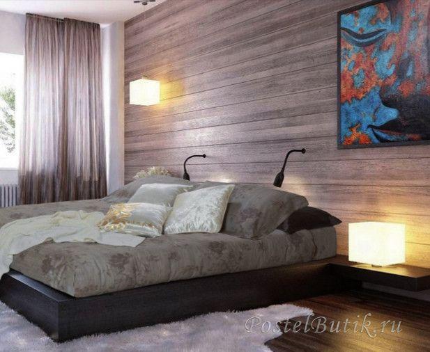 Постельное белье 2 спальное евро Byblos Ikat коричневое
