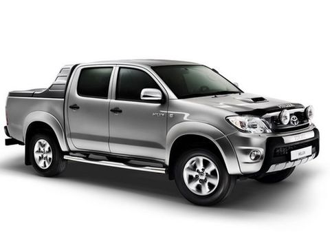 Toyota Hilux VII с дополнительной задней пневмоподвеской