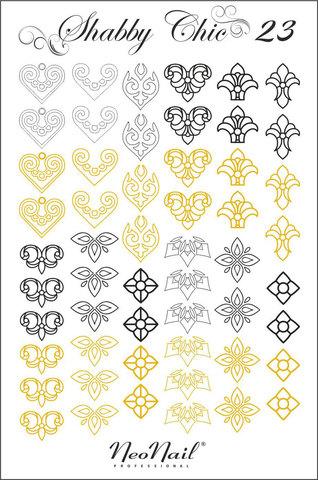 Трафарет для дизайна Shabby Chic 23 комбинированный