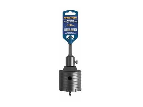 Коронка твердосплавная ПРАКТИКА SDS- Plus ударная 68 мм (1шт.) клипса