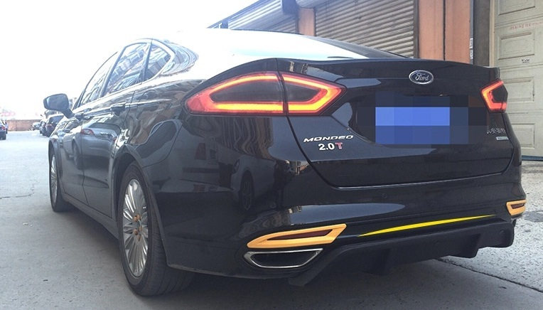Задний обвес carbon для Ford Mondeo ( 2014 - по н.в. ) eosuns led daytime running light drl for ford mondeo fusion 2014 2015 wireless switch control yellow turn signal dim control