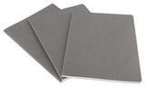 Блокнот Moleskine Cahier XLarge 190х250мм обложка картон 120стр нелинованный серый 3шт (CH323)