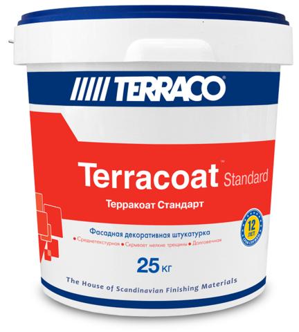 Terraco Terracoat Standart/Террако Терракоат Стандарт Декоративное покрытие на акриловой основе с высокой текстурой типа «шагрень»