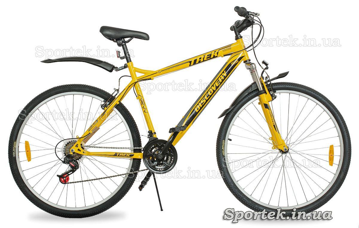 Желто-серо-черный горный велосипед для мужчин и женщин Discovery Trek 2016