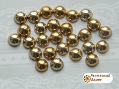 Полубусины  золотые 8 мм (50 шт)