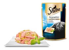 Sheba Appetito Ломтики в желе с тунцом и лососем 85 гр