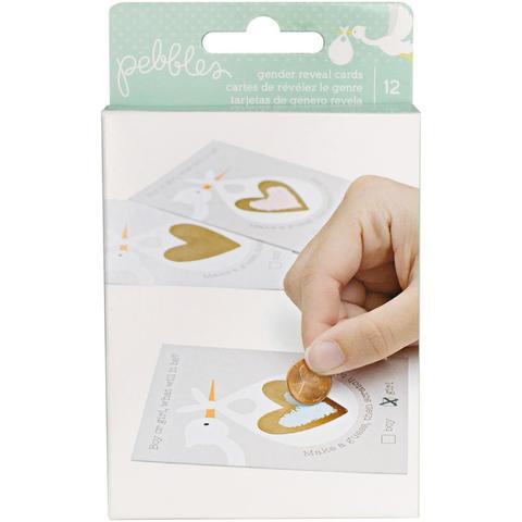 "Карточки ""Угадай пол малыша"" -коллекция Lullaby Double-Baby Gender Reveal Party Scratch-Off Cards - Pebbles"