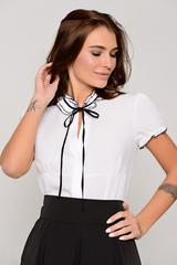 Изящная блузка классического стиля - одна из незаменимых моделей в гардеробе современной леди. Блузка гармонично сочетается с множеством фасонов брюк и юбок.