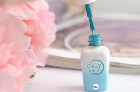 Гель-лак Only French, LightBlue Touch №015, 7ml