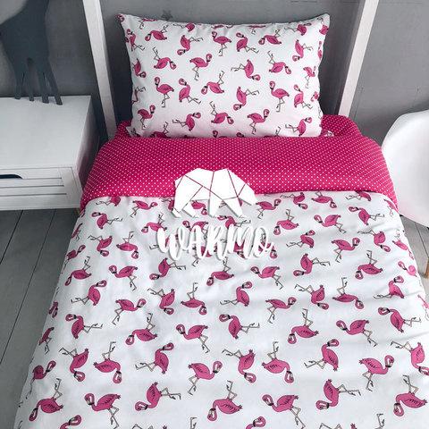 купити дитячу постіль з рожевими фламінго фото