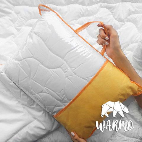 Комлект Ковдра + Товста подушка в дитяче ліжечко (Італійський батист + Штучний лебединий пух/Мікроволокно) фото