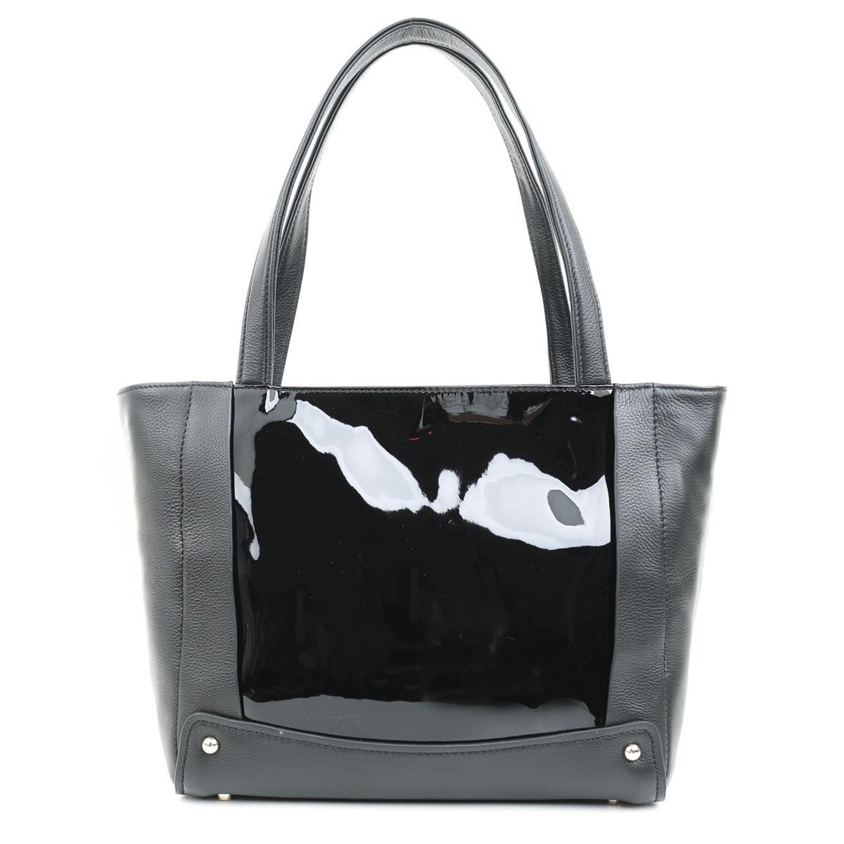 3314 Fiato  кожа /лак черный (сумка женская)