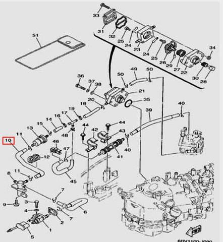 Шланг для лодочного мотора F5 Sea-PRO(9-10)