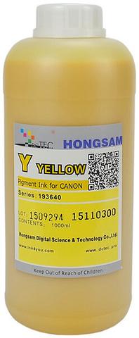 Чернила DCTec iPF6400/iPF8400 Yellow (Y) 1000 мл пигмент (серия 193640 / 193540)