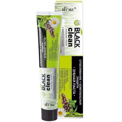Зубная паста Отбеливание + комплексная защита с микрочастицами черного активированного угля и лечебными травами
