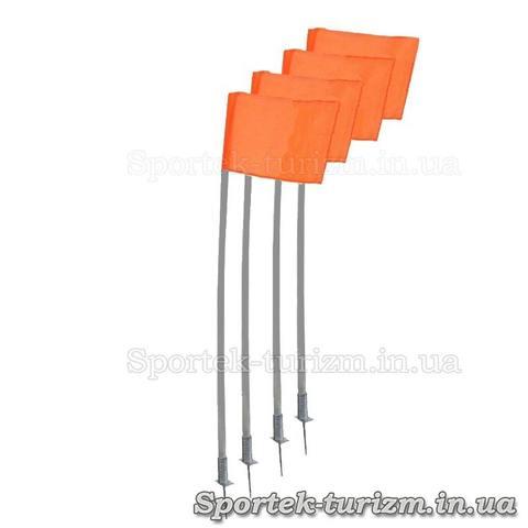 Комплект из 4-х угловых флагов на пружинах для футбольного поля