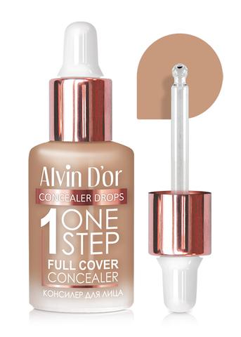 Alvin D`or CFD-1 Консилер для лица  1 ONE STEP drops 8мл (тон 04 розово-бежевый)