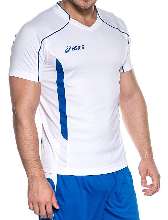 Мужская волейбольная футболка асикс T-shirt Volo (T604Z1 0143) белая