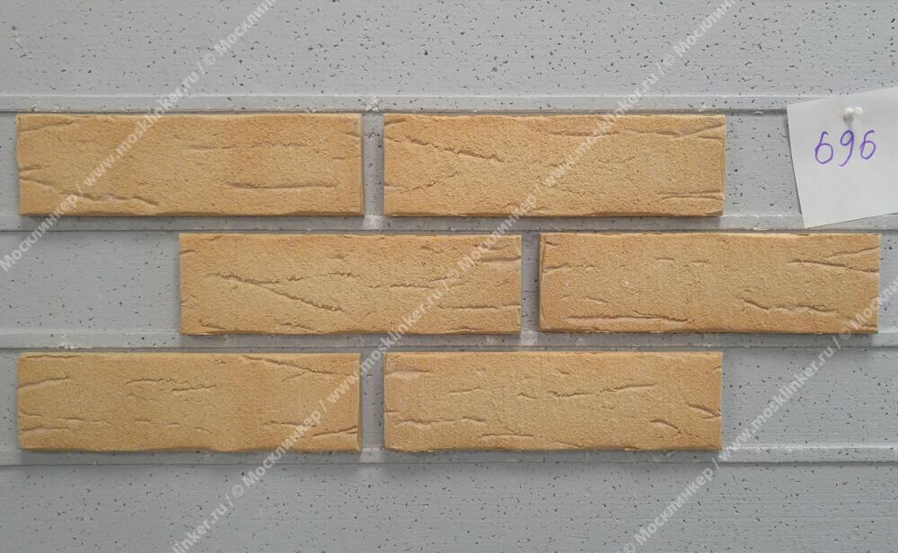 Плитка-клинкер под кирпич Feldhaus Klinker, Sintra, ручная формовка, crema duna, R696NF14