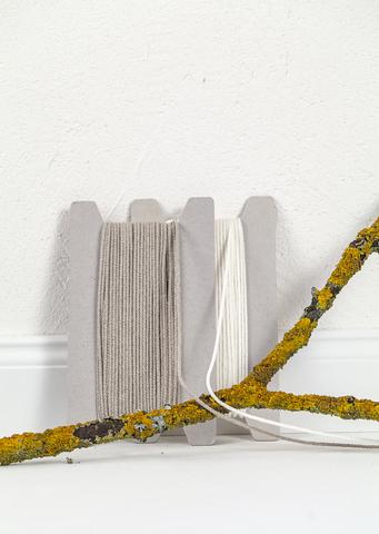 Льняной круглый шнур 2,5 мм, 2 цвета