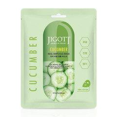 Jigott Cucumber Real Ampoule Mask – Тканевая маска с экстрактом огурца
