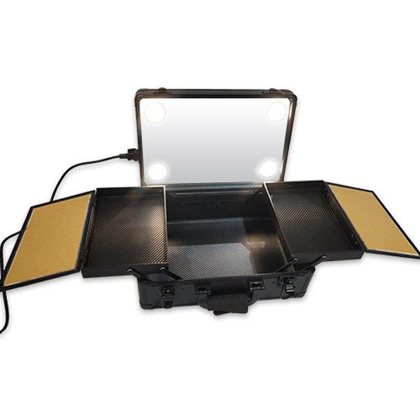 Бьюти кейс визажиста на колесиках (мобильная студия) LC019 Black фото