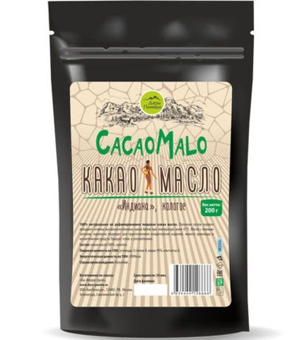 Какао масло не рафинированное, колотое,