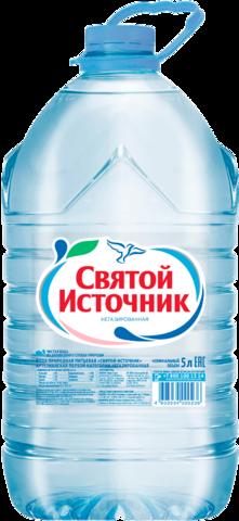"""Вода """"Святой источник"""" питьевая негазированная 5л"""