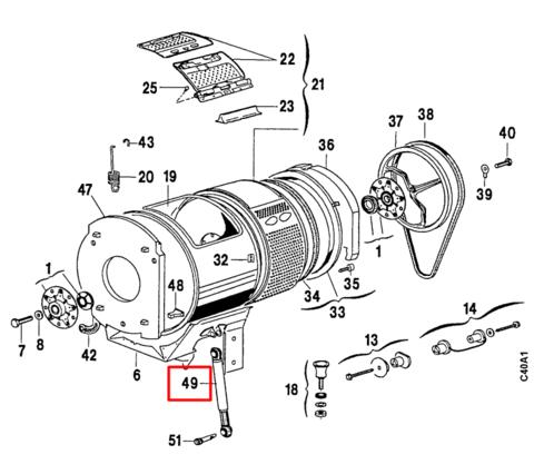 Амортизатор для стиральной машины Electrolux (Электролюкс) - 1292348602, 1292348628  ОРИГИНАЛ