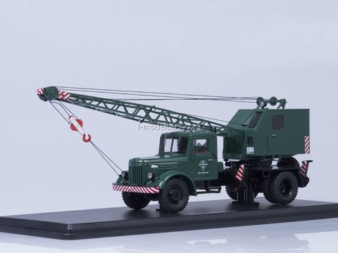 MAZ-200 Truck Crane K-51 green Start Scale Models (SSM) 1:43