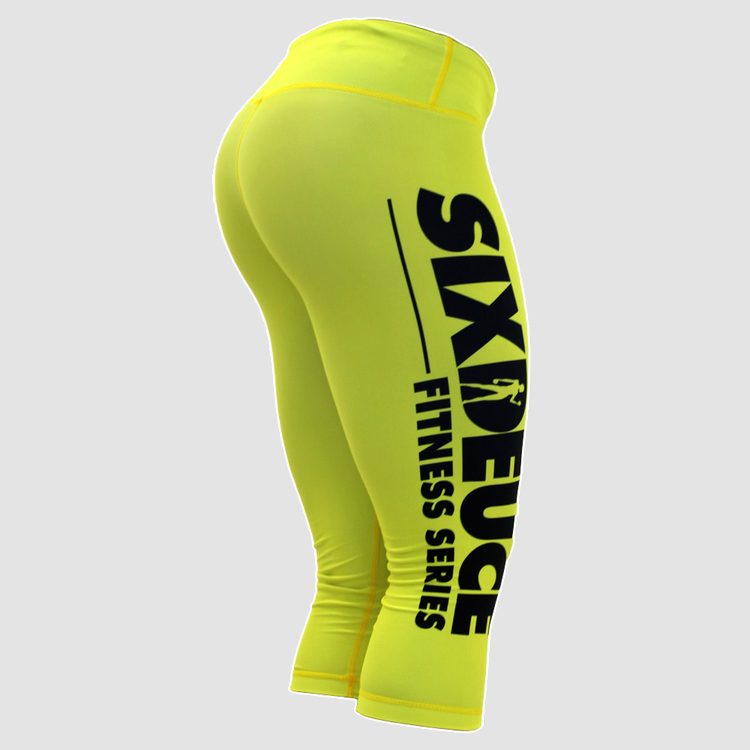 Женские капри SD 3/4 FITNESS ALL YELLOW