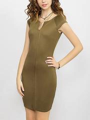 GDR008903 Платье женское, хаки