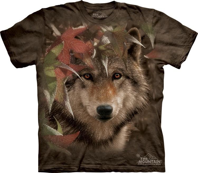 Футболка Mountain с изображением волка - Autumn Encounter
