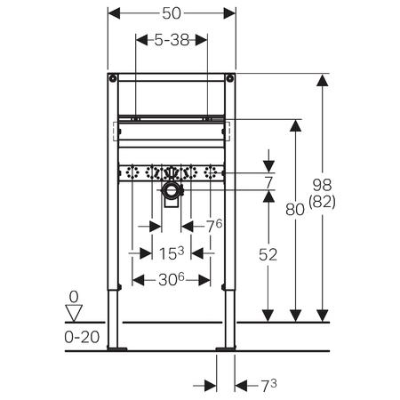 Монтажный элемент для подвесной раковины Geberit Duofix 111.490.00.1
