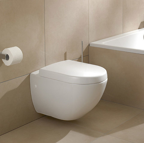 Унитаз подвесной Villeroy & Boch Subway Plus 6600 10R2 star white