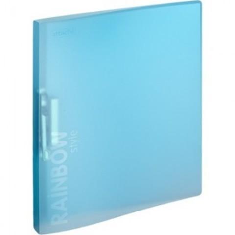 Папка с зажимом Attache Rainbow Style голубой