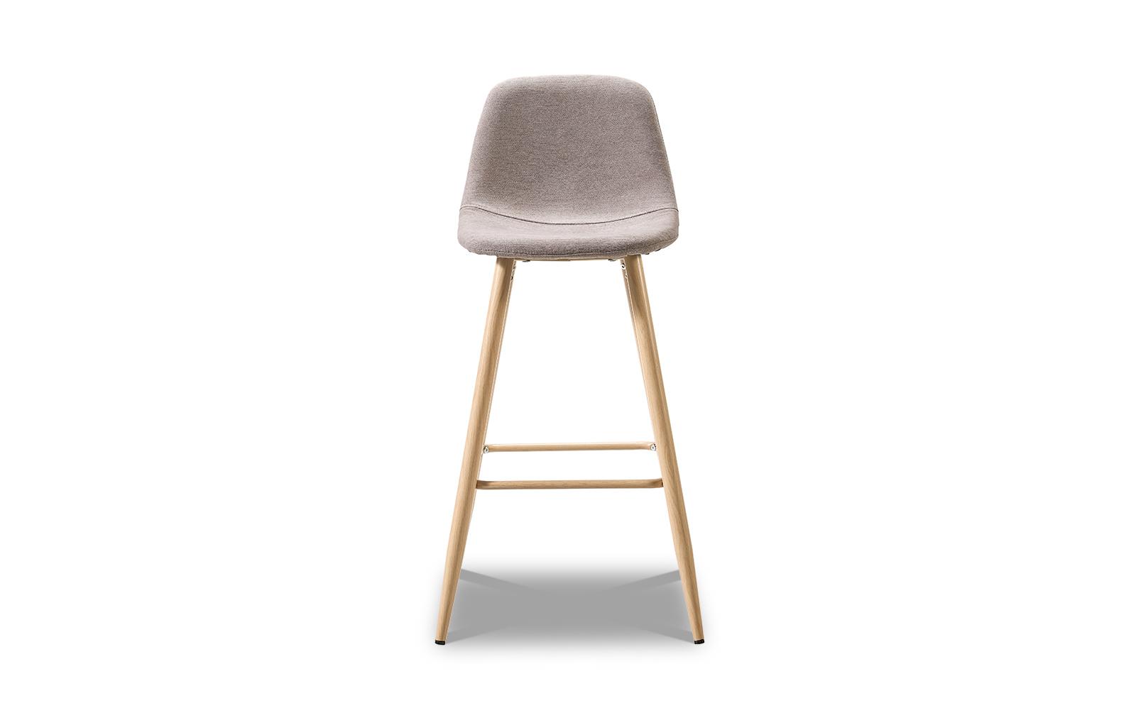 Барный стул ESF 350B бежевый темный/дерево