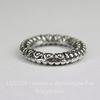 Коннектор - кольцо с узором (цвет - античное серебро) 17 мм
