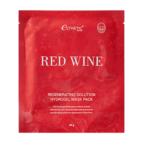 Гидрогелевая маска для лица ESTHETIC HOUSE RED WINE REGENERATING SOLUTION HYDROGEL MASK PACK