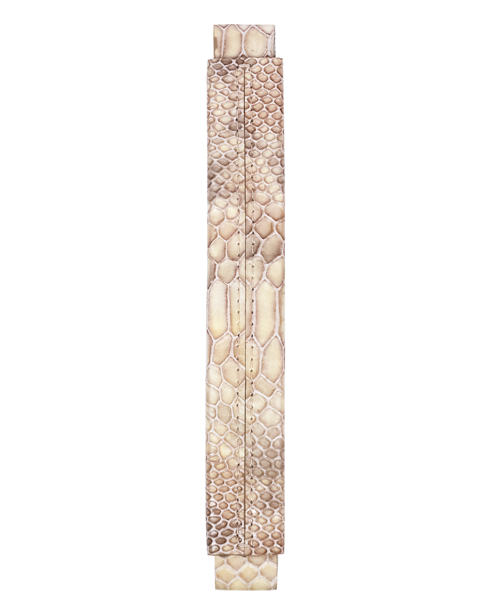 Сменная ручка из лаковой кожи с принтом питона