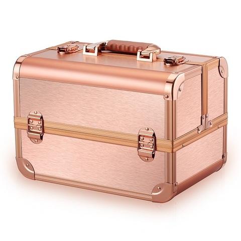 Бьюти кейс для косметики CWB 8340 розовое золото