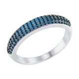 Серебряное кольцо с бирюзовыми наноситаллами