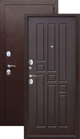 Дверь входная Гарда 8 мм , 2 замка, 1,2 мм  металл, (медь антик+венге)