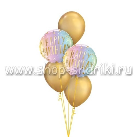 Фонтан из шаров блестящий неон на день рождения
