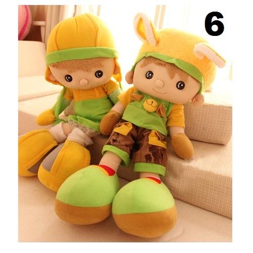 Friends boy and girl plush dolls