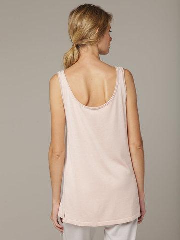 Розовая легкая шелковая майка полуприлегающего силуэта - фото 2