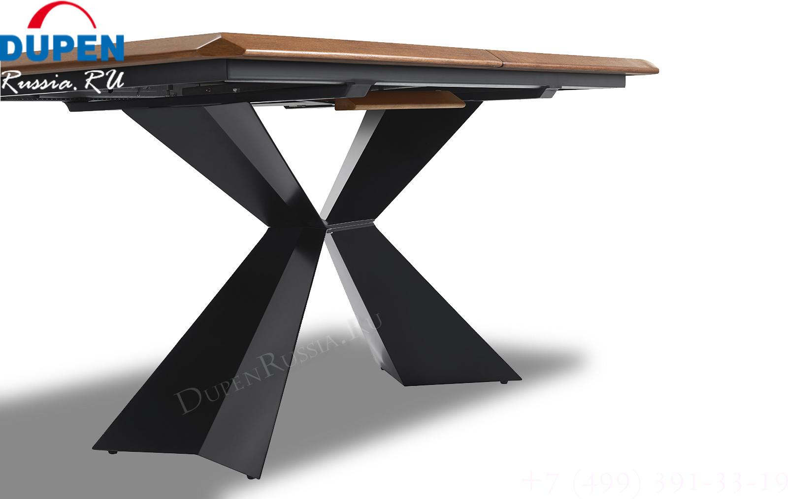 Стол ESF T1712A Орех (металлическое основание стола)